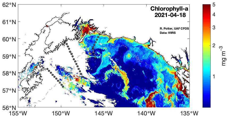 Chlorophyll-a April 18 2021