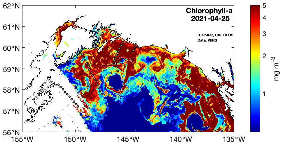 Chlorophyll-a April 25 2021